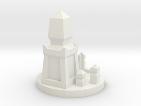 Die Holder Shrine in White Natural Versatile Plastic