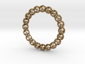 Bracelet Ball 70 in Polished Gold Steel