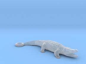 Crocodile Pendant in Smooth Fine Detail Plastic