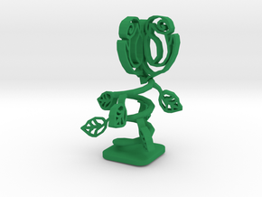 Mechanical Rose in Green Processed Versatile Plastic