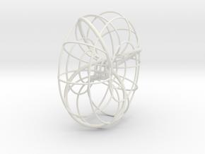 Trefoil torus knot in White Natural Versatile Plastic