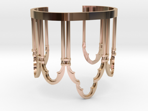 Venetian Window in 14k Rose Gold Plated Brass
