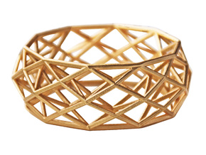 Bracelet Constructionist size M in Matte Gold Steel