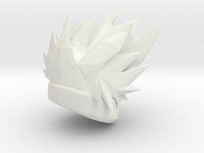 Custom Kakashi Inspired Hair for Lego in White Natural Versatile Plastic