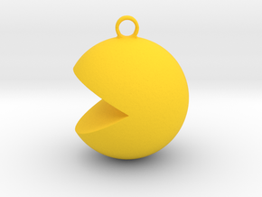 PacMan Pendant in Yellow Processed Versatile Plastic