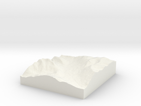 Cooper Lake to Pete Lake, Washington in White Natural Versatile Plastic