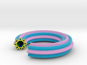 0139 Astroid Torus (R=8, r=2, θ=0&pi/4) 7/8 part in Full Color Sandstone