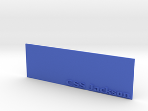 Base for 1/600 CSS Jackson in Blue Processed Versatile Plastic