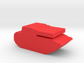 Game Piece, Red Force BMP-2 in Red Processed Versatile Plastic