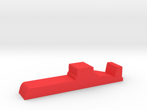 Game Piece, Red Force Ballistic Sub in Red Processed Versatile Plastic