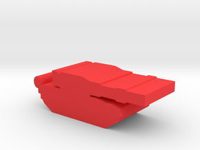Game Piece, Red Force T-80 Tank in Red Processed Versatile Plastic