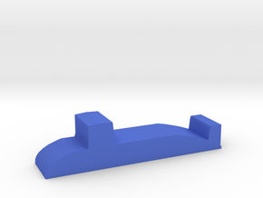 Game Piece, Blue Force Attack Submarine in Blue Processed Versatile Plastic