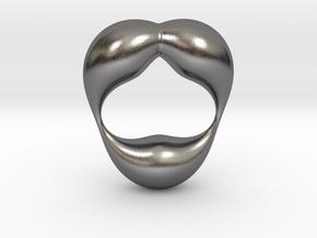 0055 Antisymmetric Torus  (p=2.5) #004 in Polished Nickel Steel