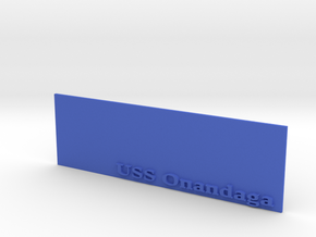 Base for 1/600 USS Onondaga in Blue Strong & Flexible Polished