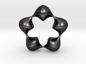 0058 Antisymmetric Torus (p=5.0) #007 in Polished and Bronzed Black Steel