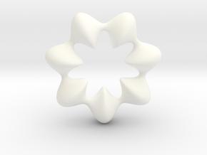 0066 AntisymmetricTorus (p=7.0) #009 in White Processed Versatile Plastic