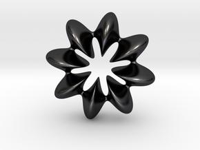 0068 AntisymmetricTorus (p=8.0) #010 in Polished and Bronzed Black Steel