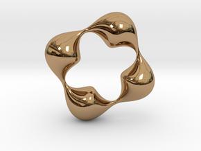 0057 Antisymmetric Torus (p=4.0) #006 in Polished Brass