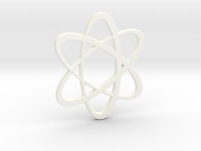 Spiral in White Processed Versatile Plastic