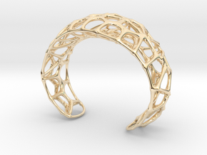 Voronoi Webb Fibre Cuff in 14k Gold Plated Brass