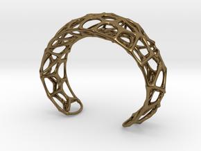 Voronoi Webb Fibre Cuff in Polished Bronze