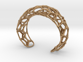 Voronoi Webb Fibre Cuff in Polished Brass