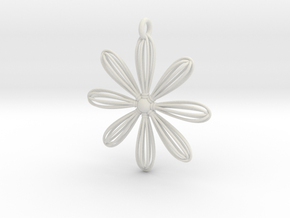 Whiskey Flower in White Natural Versatile Plastic