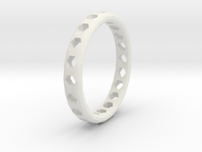 Ring Hexagons 2 in White Strong & Flexible