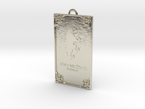 Game of Thrones - Mormont Pendant in 14k White Gold