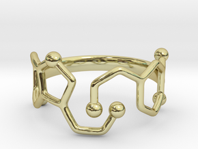 Dopamine Serotonin ring - size 6 in 18k Gold