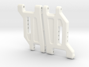 NIX62061 - RC10 wide front arms in White Processed Versatile Plastic