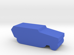 Game Piece, WW2 German Half-track in Blue Processed Versatile Plastic