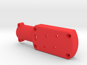 Quadcopter Brushless Motor Mount to fit 16mm carbo in Red Processed Versatile Plastic