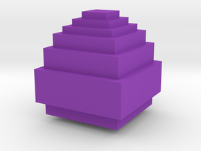 Minecraft Dragon Egg in Purple Processed Versatile Plastic