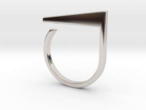 Adjustable ring. Basic model 2. in Rhodium Plated Brass
