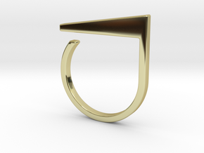 Adjustable ring. Basic model 2. in 18k Gold Plated Brass