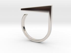 Adjustable ring. Basic model 2. in Platinum