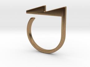 Adjustable ring. Basic model 5. in Natural Brass