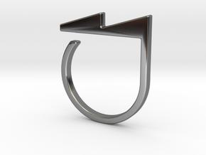 Adjustable ring. Basic model 5. in Fine Detail Polished Silver