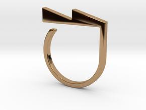 Adjustable ring. Basic model 6. in Polished Brass