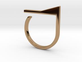 Adjustable ring. Basic model 7. in Polished Brass