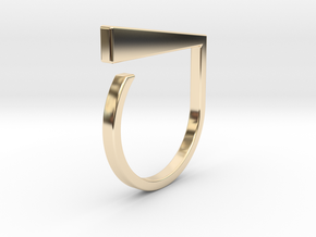 Adjustable ring. Basic model 1. in 14K Yellow Gold