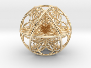 Seed Of Life Sacred Geometry 35x1.2mm in 14k Gold Plated