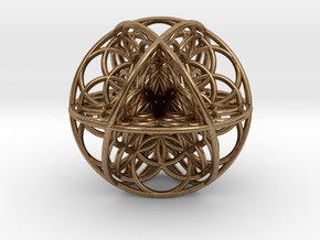 Seed Of Life Sacred Geometry 35x1.2mm in Natural Brass