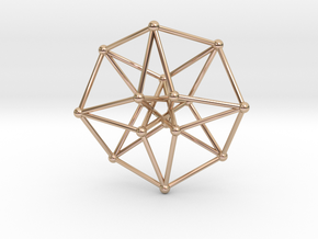 Toroidal Hypercube 35x1mm Spheres in 14k Rose Gold