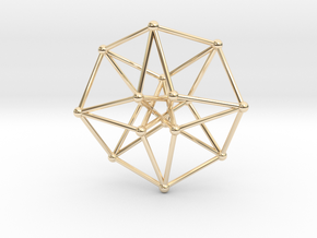 Toroidal Hypercube 35x1mm Spheres in 14k Gold Plated