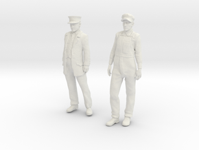 1:29 scale Conductor and Engineer Combo  in White Natural Versatile Plastic