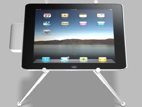 iPad Tablet Universal 5000mah Charger Tripod Mount in White Natural Versatile Plastic