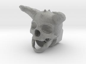 Horned Skull BarrelEnd 14 CCW in Metallic Plastic