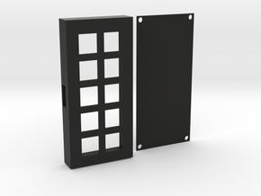 Custom 10-Key Keypad Case in Black Natural Versatile Plastic